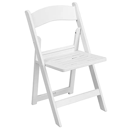 Amazon.com: A Line Furniture Daisy White Resin Folding ...