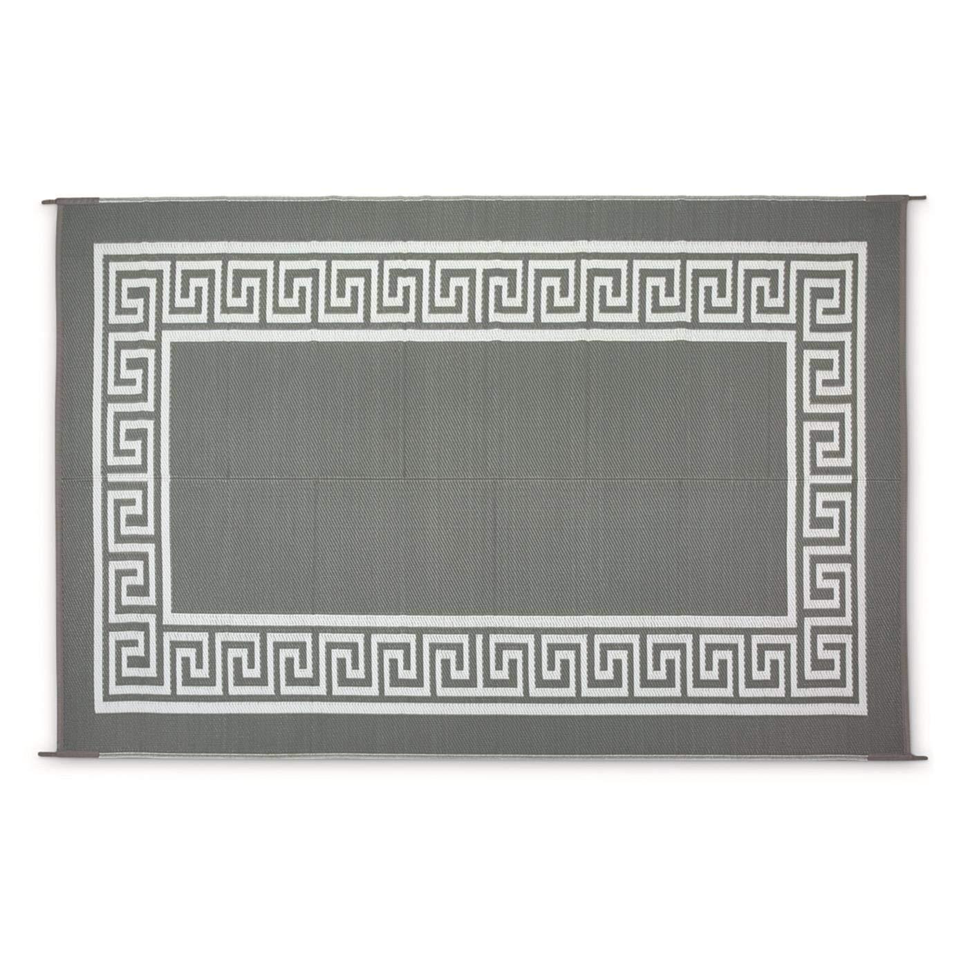 Guide Gear Border Outdoor Rug, Gray/White, 9X6