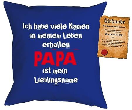 Father regalo para Papa Cojín con relleno y Escrituras ...