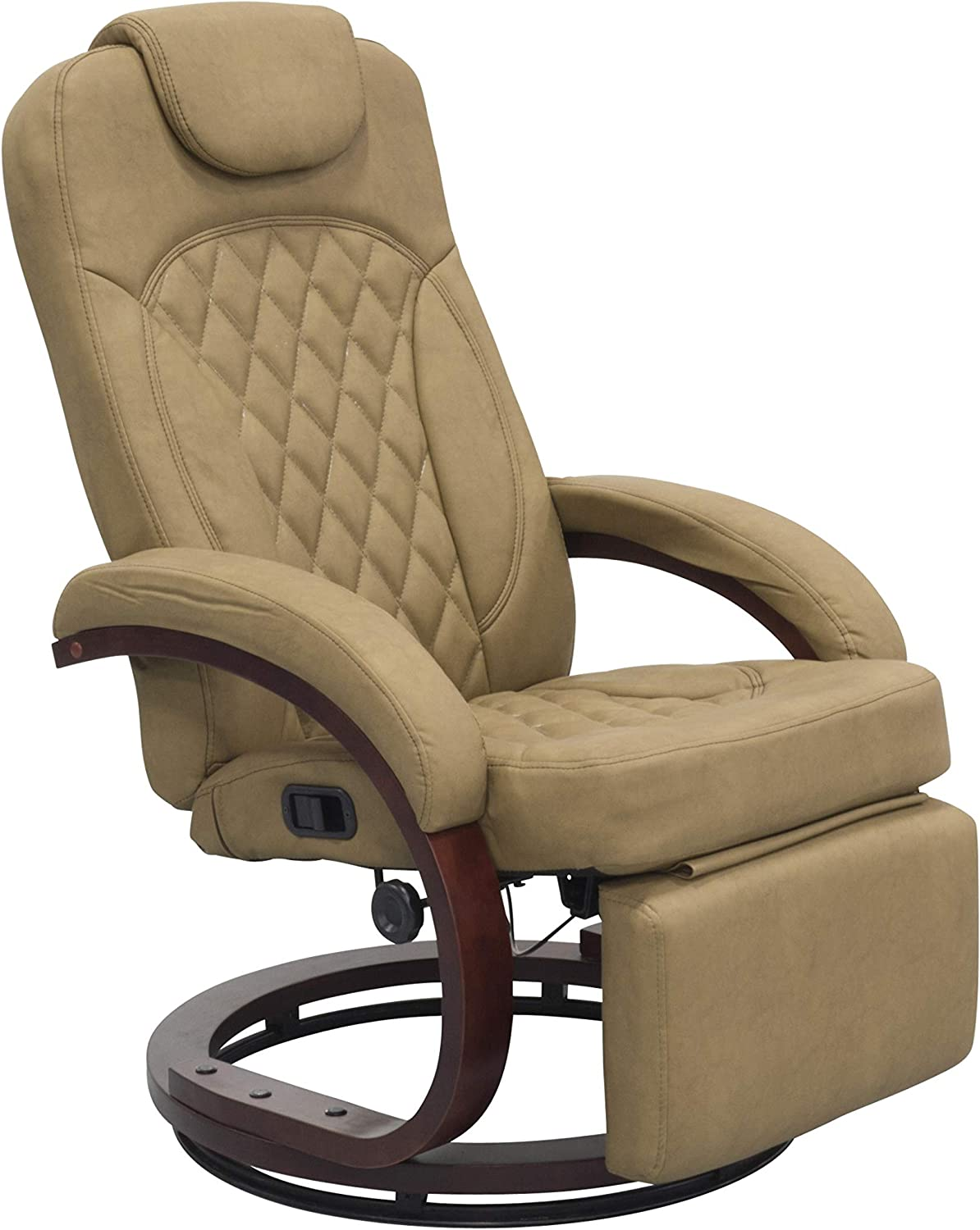 THOMAS PAYNE Euro Recliner Chair with Footrest - Oxford Tan