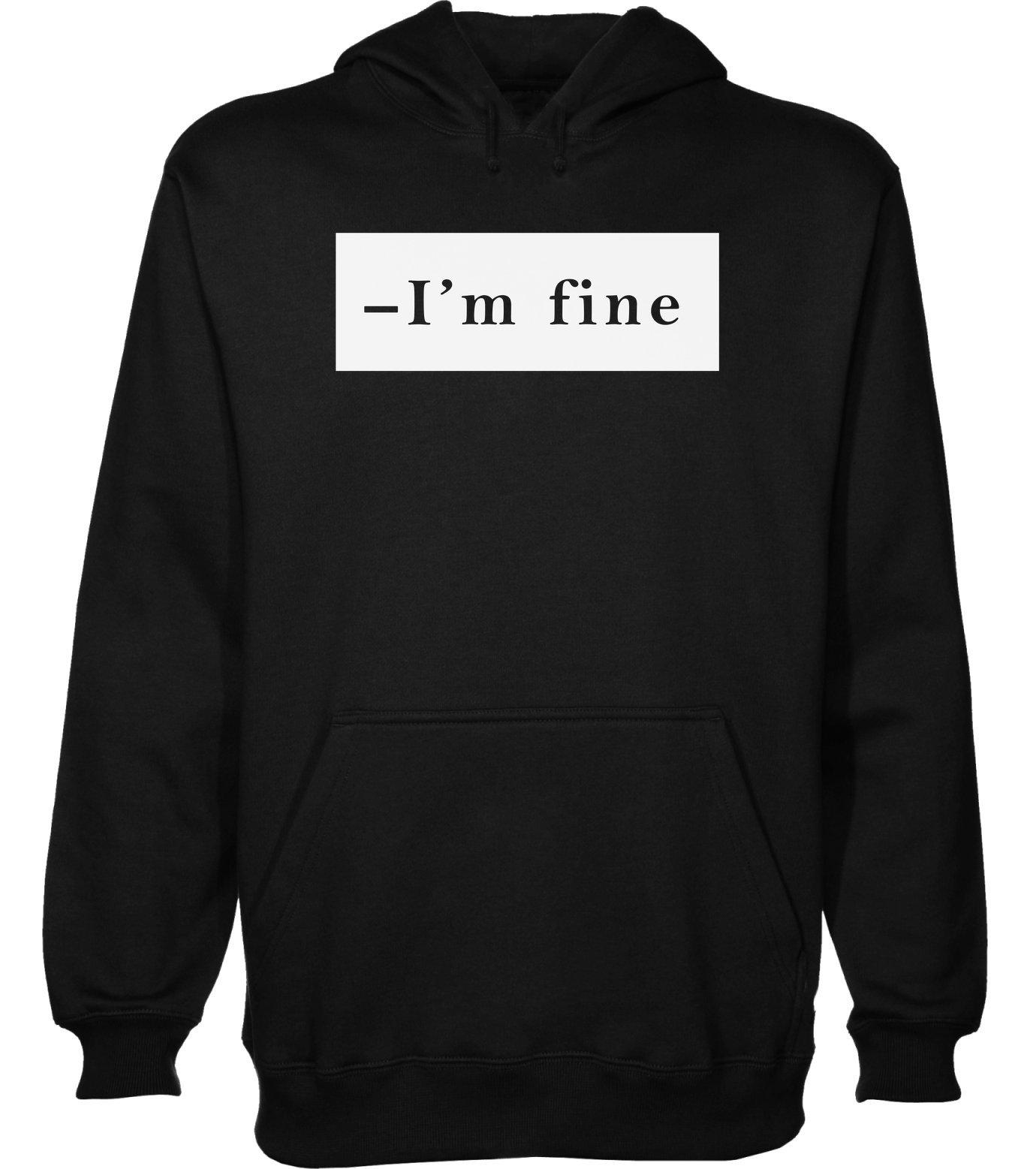 idcommerce -I'm Fine. Minimal Mood Men's Hoodie Pullover XX-Large