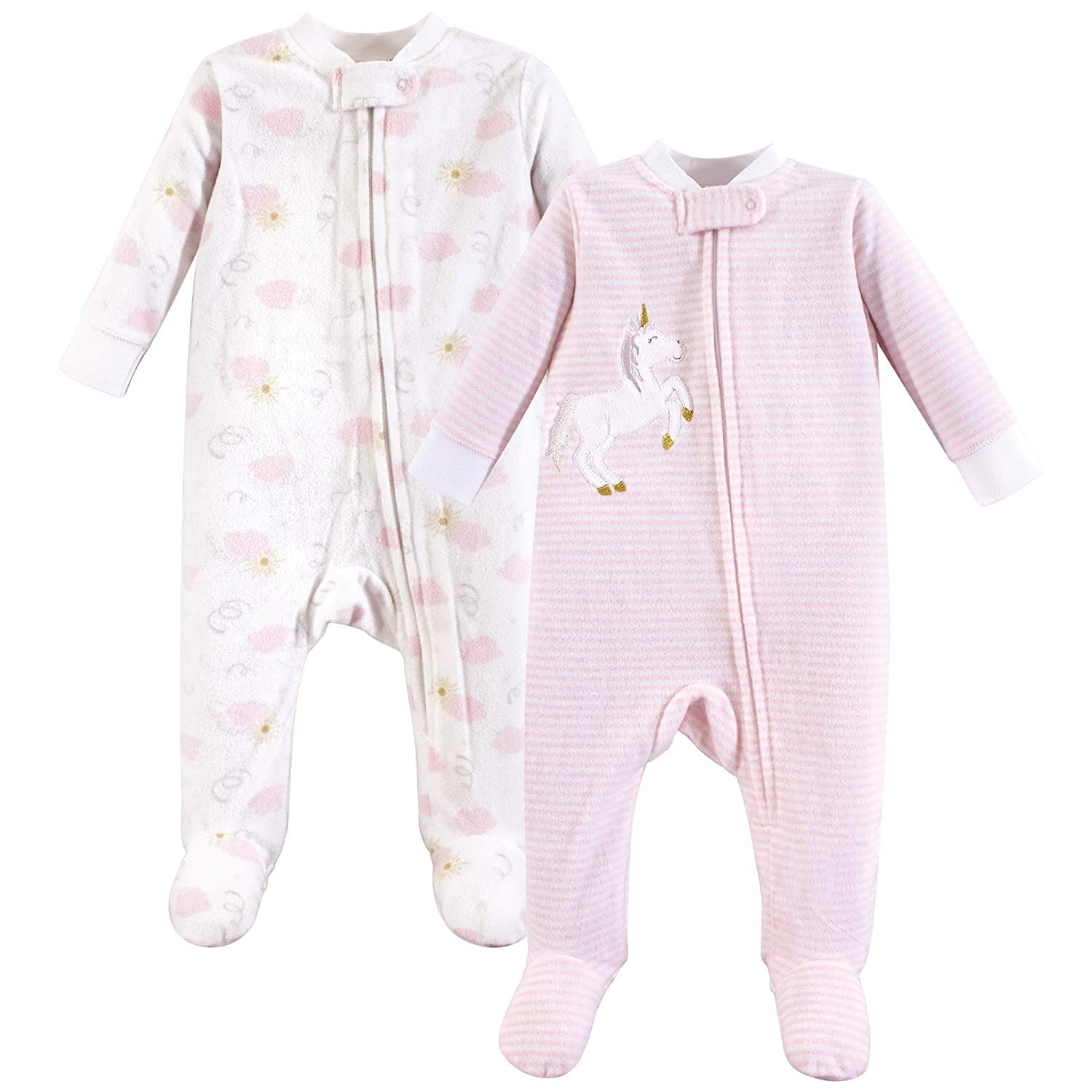 Yoga Sprout Baby Fleece Sleep and Play, 2 Pack, Unicorn, 6-9 Months (9M) Yoga Sprout Children' s Apparel 92283L