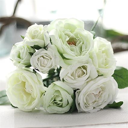 Amazoncom Mynse 9 Heads Ranunculus Silk Flowers For Wedding Bridal