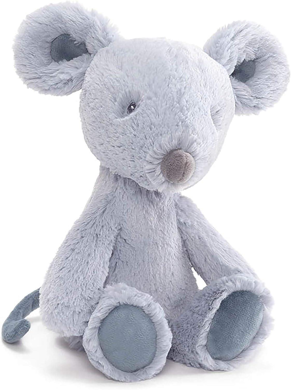 "Baby GUND Baby Toothpick Spencer Mouse Plush Stuffed Animal, Grey, 12"""