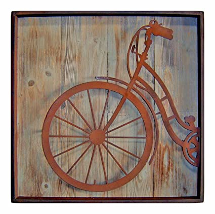 Amazon.com: Cheung\'s FP-3115A Metal Square Bicycle Front Wall Art ...