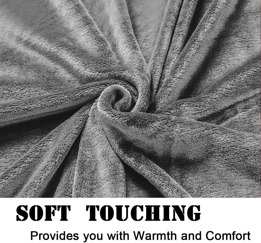 SAKIAO Fleece Blanket Throw Size Lightweight Fuzzy Plush Super Soft /& Warm Cozy Luxury Couch Bed Blanket Microfiber Grey,Throw