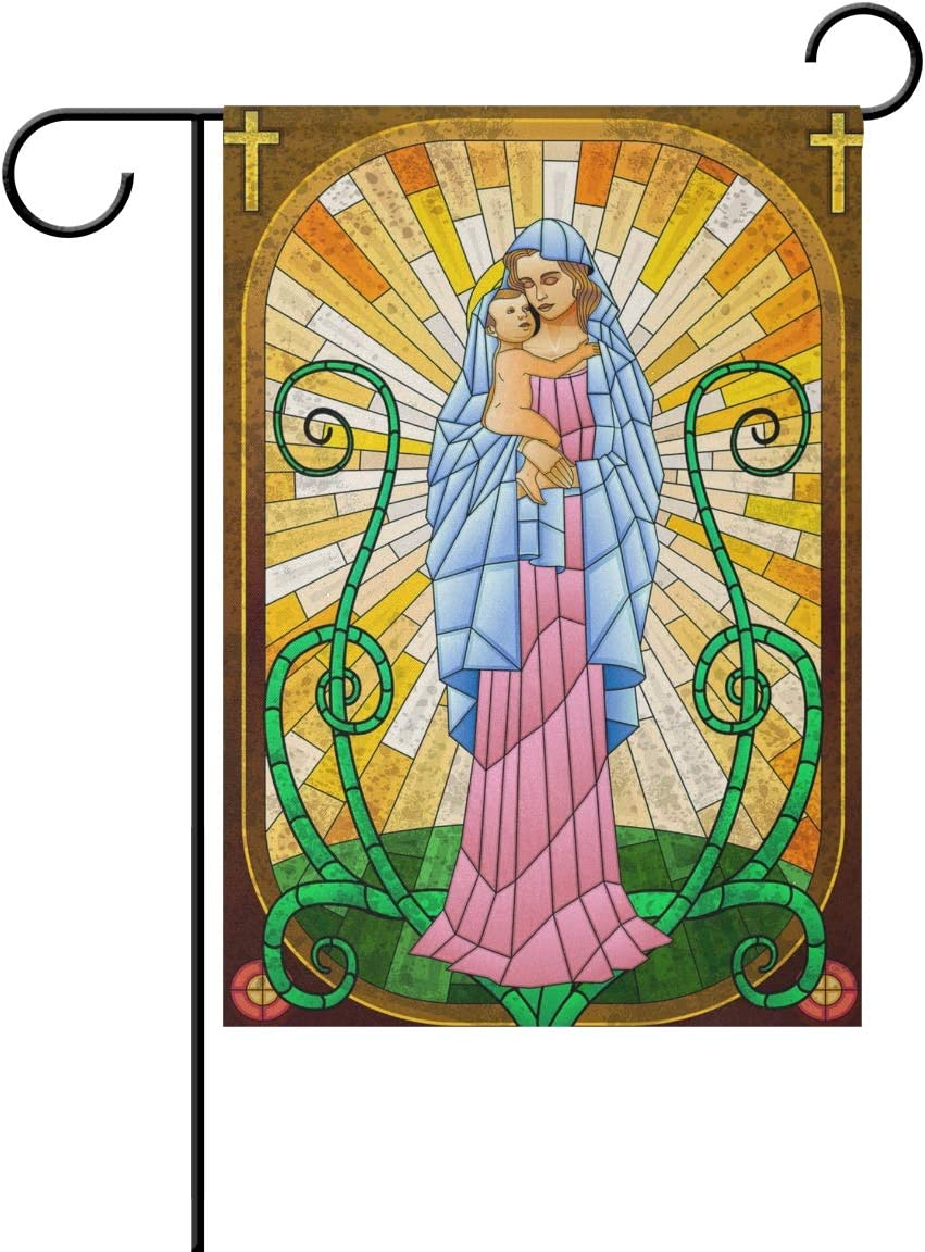 RsebidR Virgin Mary Mother of The Lord Outdoor Double-Sided Garden Flag 12