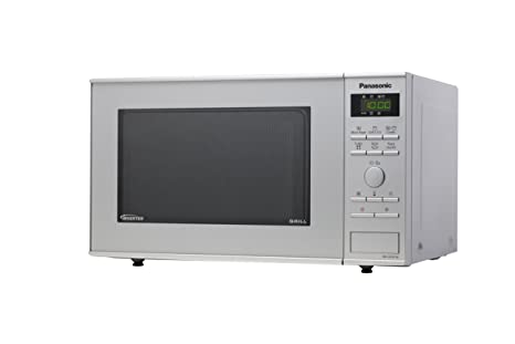 Panasonic NN-GD361MEPG - Microondas (950W, 23 litros), color Plateado