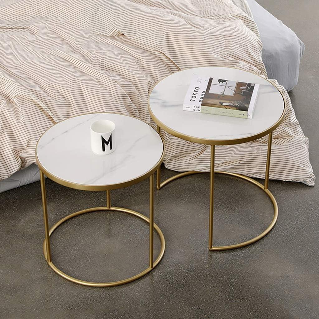Modern Nesting Side End Table Set Living Room Set Of 2 White