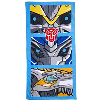 Transformers- Toalla de playa/piscina estampada para niños (70cm x 140cm/Multicolor): Amazon.es: Hogar