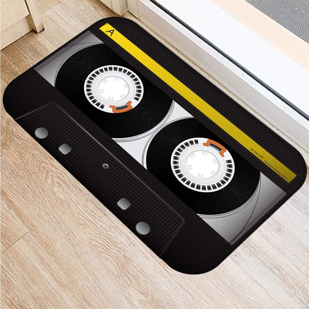 kirken 23.6x15.7 Inch Floor Mat Non-Slip Carpet Pad Doormat for Living Room Bedroom Bathroom Doormats