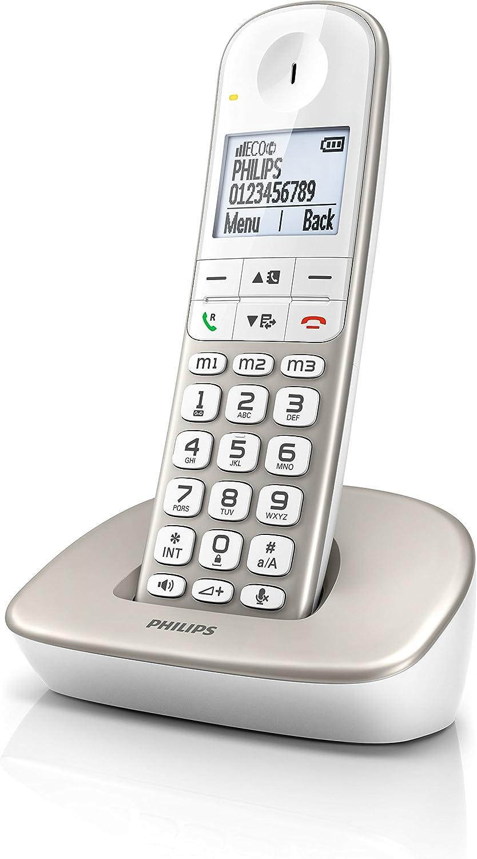 Philips XL4901S/23 - Teléfono Fijo inalámbrico Compatible con audiófonos: Amazon.es: Electrónica