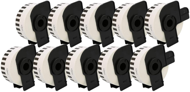 DK-22210 29mm x 30.48m Endlos-Etiketten kompatibel f/ür Brother P-Touch QL-500 QL-550 QL-560 QL-570 QL-700 QL-710W QL-720NW QL-800 QL-810W QL-820NWB QL-1050 QL-1060N QL-1100 QL-1110NWB Etikettendrucker