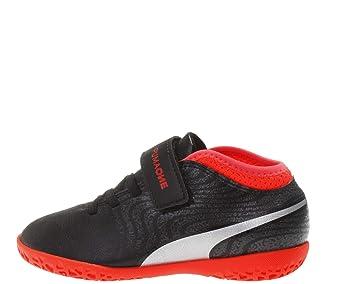 best service 95bb1 e5a20 Puma One 18.4 it V Jr Hall Chaussures de Football Enfants Noir argenté Rouge