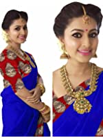 Indian Beauty Women's Chanderi Cotton With Blouse Saree