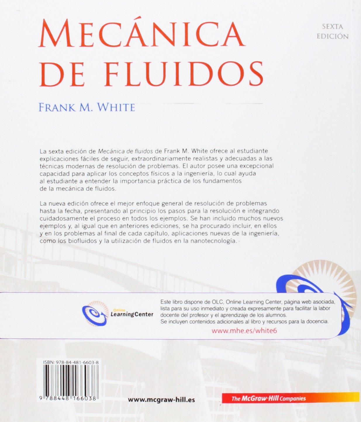 Mecanica De Fluidos Amazon Es White Frank Libros