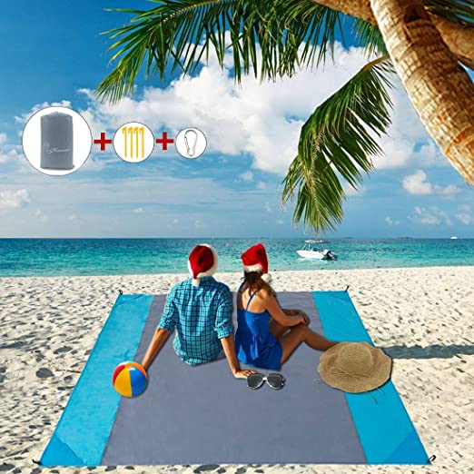 Camping Hiking and Music Festivals-Lightweight Quick Drying Heat Resistant MSNWSN Beach Mat Extra Large Size 83 X79 Sand Proof Beach Blanket Outdoor Picnic Mat for Travel