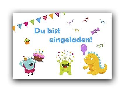 Invitaciones Cumpleaños infantiles con bonitas monstruos ...