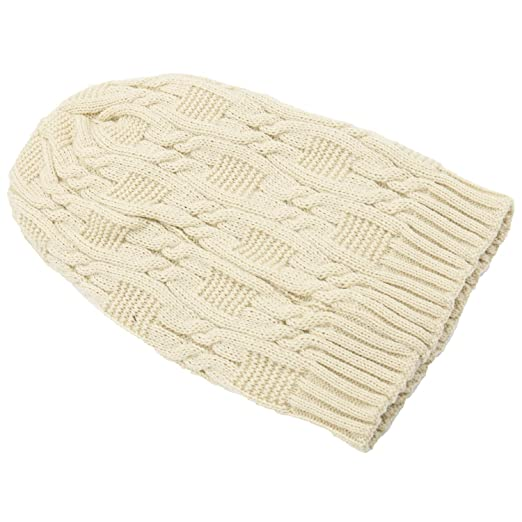 84bf0a05a27 Merryshop Slouchy Long Beanie Knit Hat Cap for Winter Oversize (Beige)