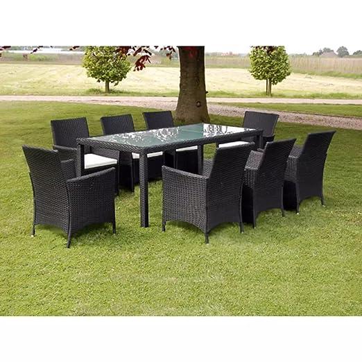 luckyfu este juego de mesa y sillas de jardín 17 unidades de ...