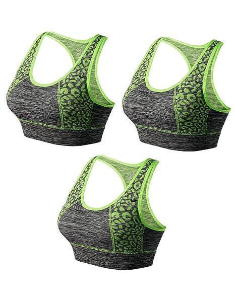 Match Mujer Sujetador Deportivo Racerback con Relleno Sin Costura Sin Aros para Yoga Gimnasio Aptitud Fitness #007
