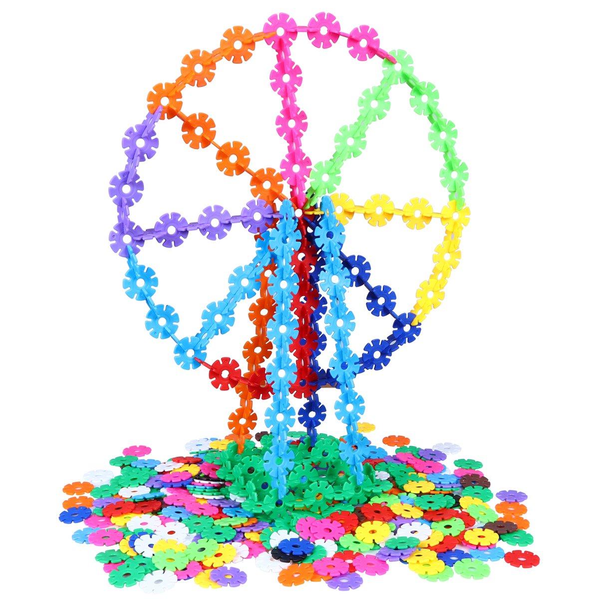 500 Pcs Snowflakes Building Toys