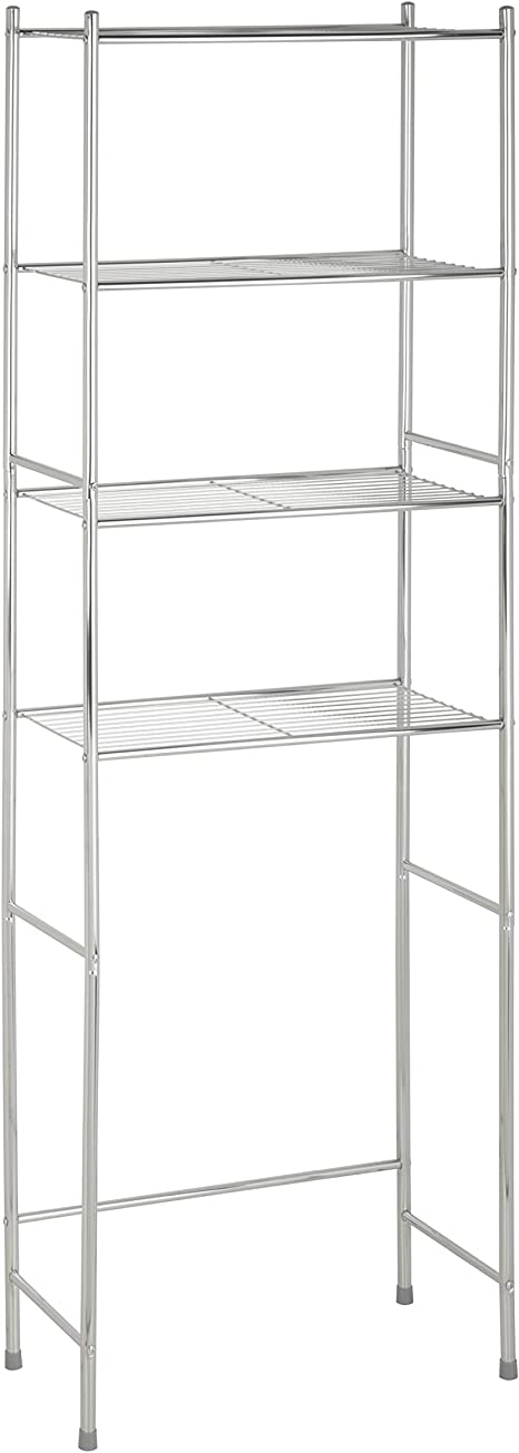 Amazon Com Honey Can Do 4 Tier Space Saver Shelf Chrome 24 02 L X 11 02 W X 67 72 H Home Kitchen