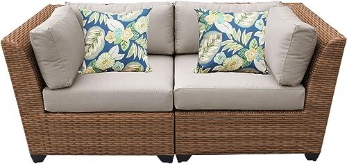 TK Classics Laguna 2Piece Outdoor Wicker Patio Furniture Set