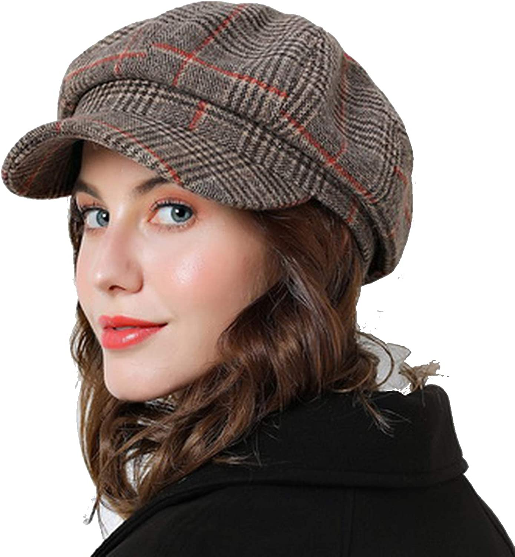 Women Newsboy Cap Winter...