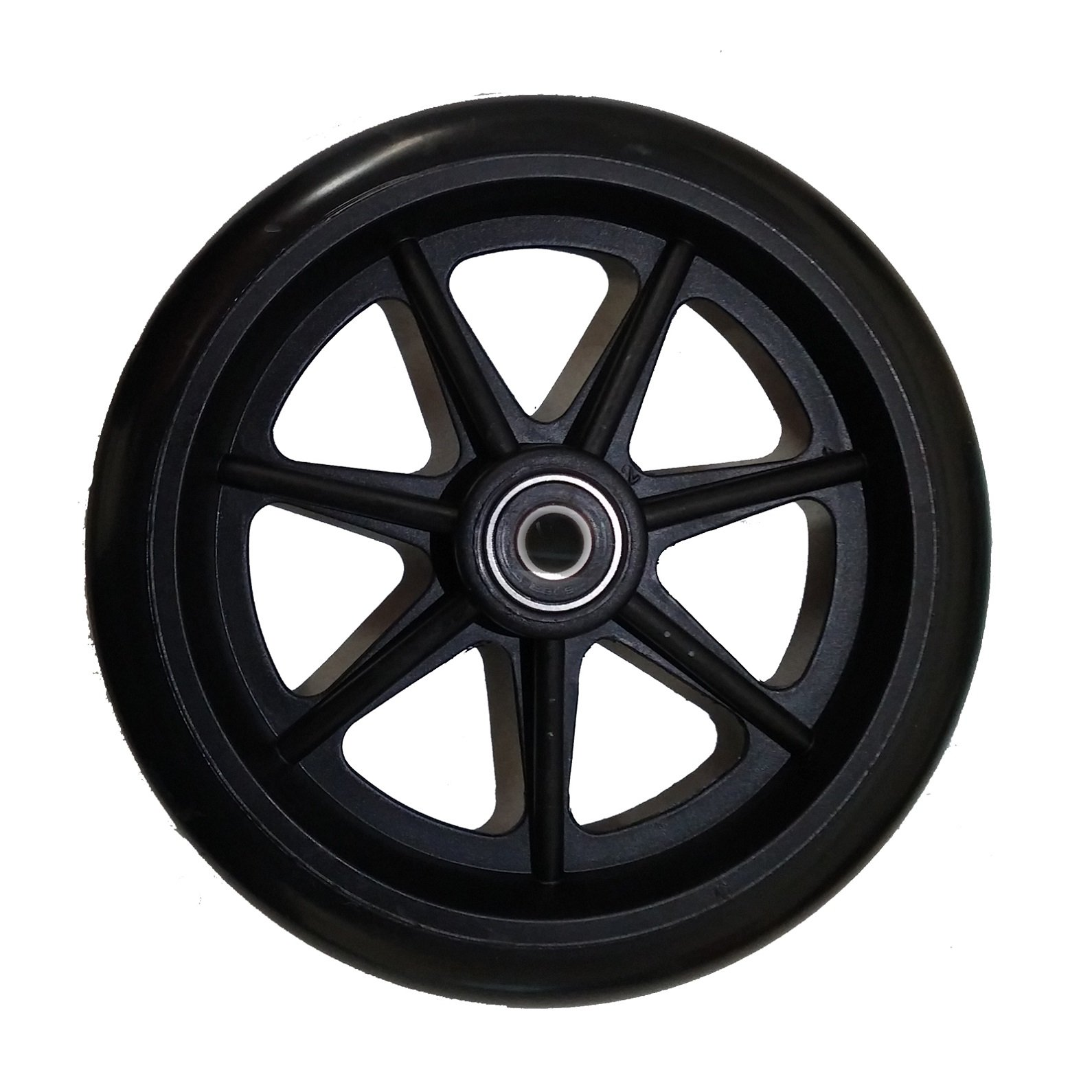 Stander Walker Replacement 6'' Wheels - For the EZ Fold N' Go Walker and Able Life Space Saver Walker, set of 2, Black