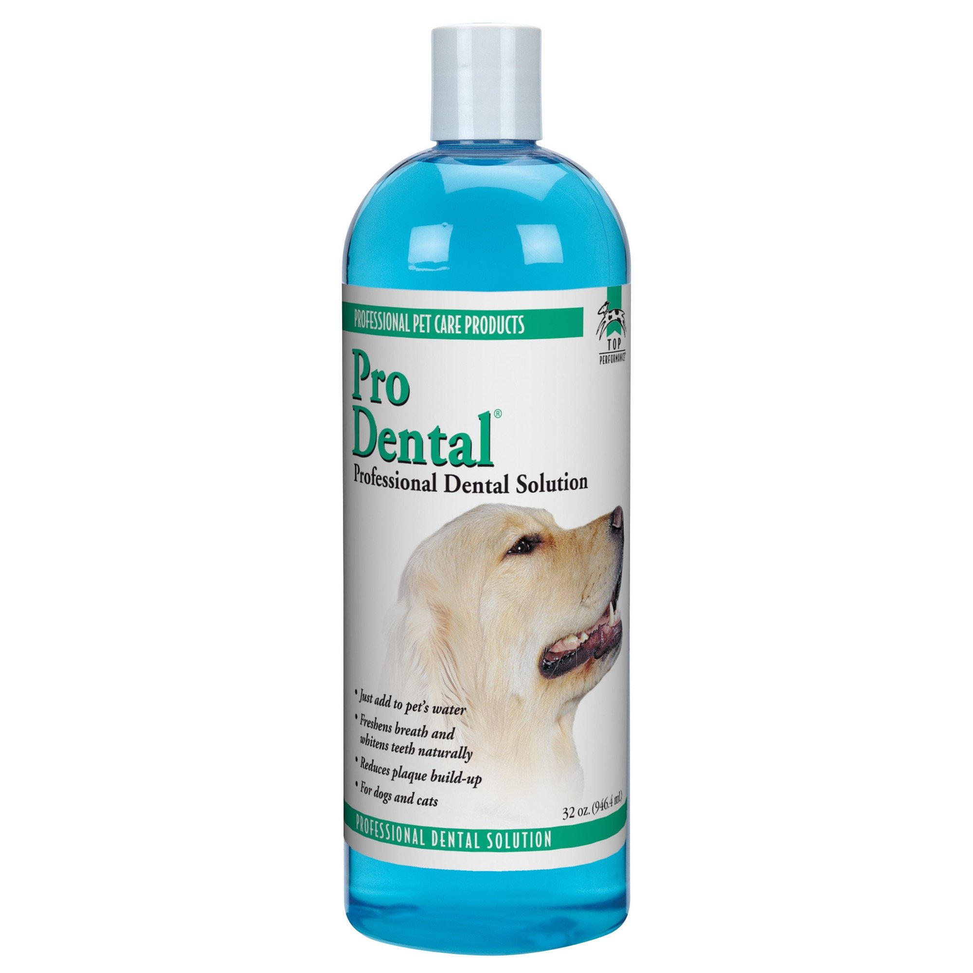 Top Performance ProDental Solution - Innovative Solution for Cleaning Pets' Teeth and Gums, 32 oz. by Top Performance