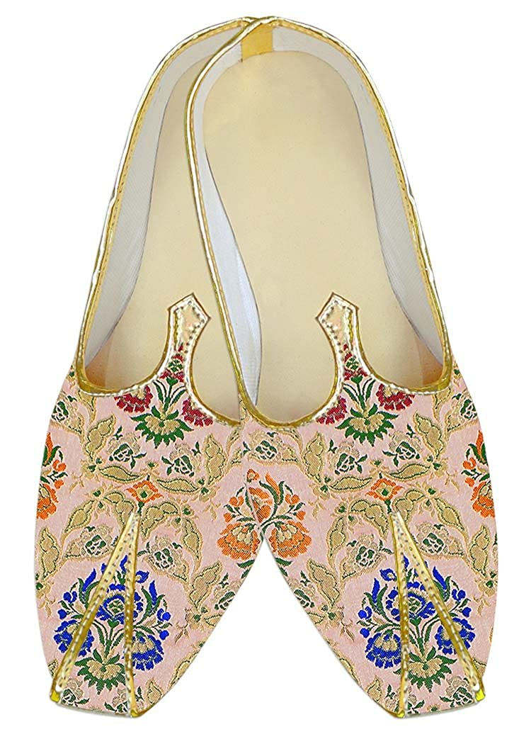 INMONARCH Hombres Boda Zapatos Kheenkhap Rosa Flor Multicolor MJ18415 45 EU