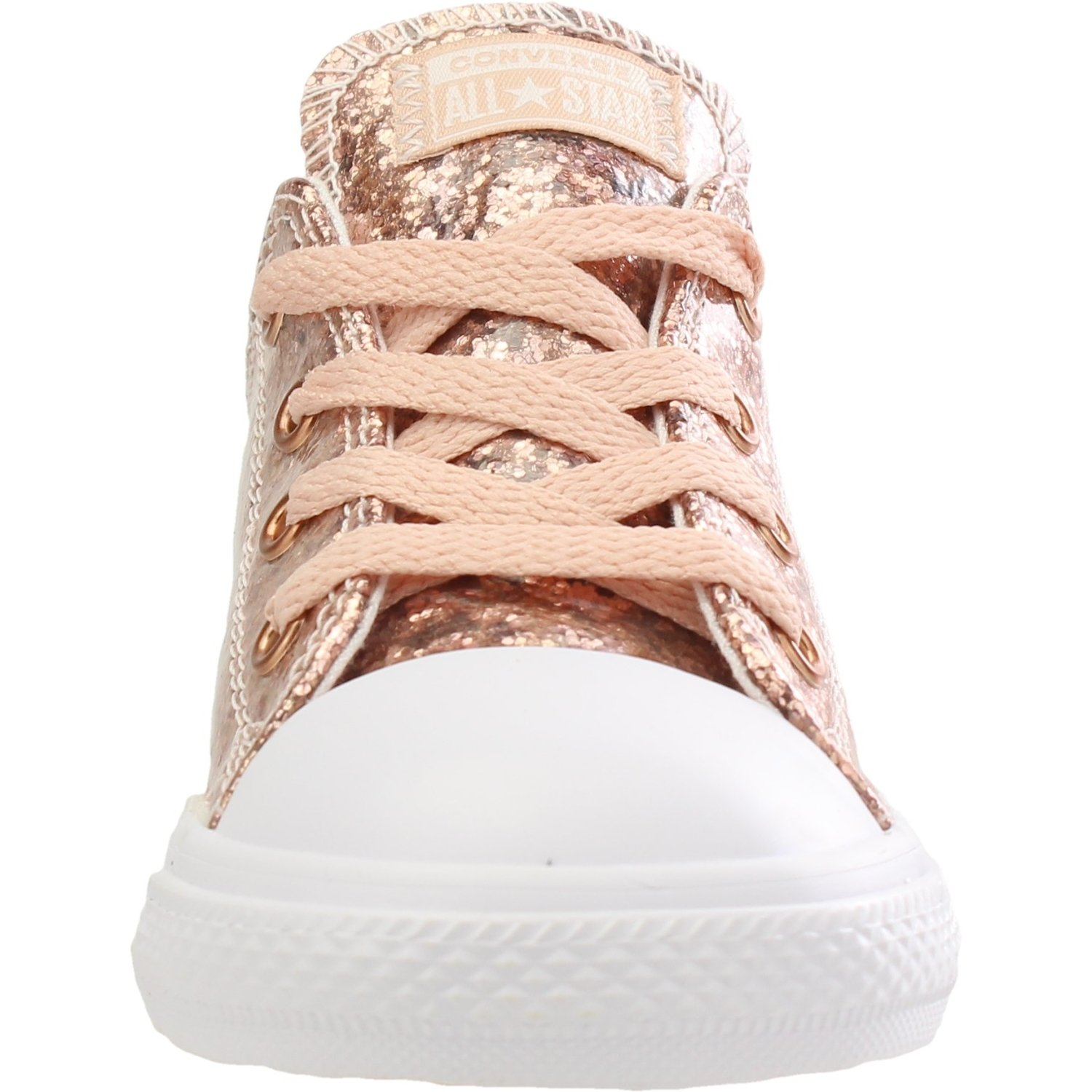 Converse Chuck Taylor All Star Glitter Dust Pink Synthetic Baby Trainers Shoes