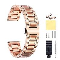 Cinturino Per Orologio In Acciaio Inossidabile,Bracciale In Metallo Con Estremità Diritte E Curve (Oro,Argento,Nero,Oro Rosa,Due Tonalità) - 12 mm,14 mm,16 mm,18 mm,19 mm,20 mm,21 mm,22 mm,24 mm