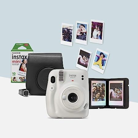 Oferta amazon: Instax 70100148211 Mini 11 - Kit de cámara instantánea con funda, Blanco