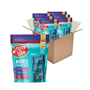 Enjoy Life Foods Mini Chocolate Candy Variety Pack, Nut Free, Soy Free, Dairy Free Chocolate, 6 Pack, 5.25 Ounce
