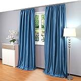 dekoschal vorhang blickdicht lichtdurchl ssig bergardine kr uselband gardine ca. Black Bedroom Furniture Sets. Home Design Ideas
