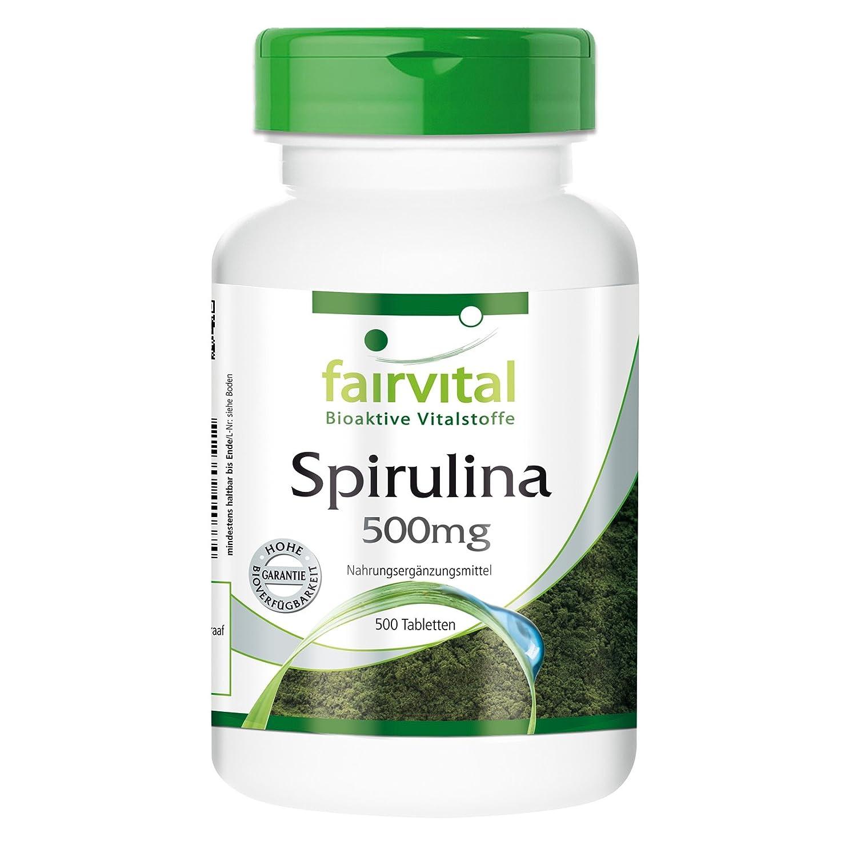 Spirulina 500 mg - para 2 meses - VEGANO - Alta dosificación - 500 comprimidos - Spirulina platensis - Sin Aditivos: Amazon.es: Salud y cuidado personal