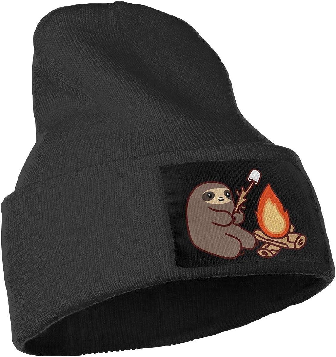 COLLJL-8 Men /& Women Campfire Sloth Outdoor Stretch Knit Beanies Hat Soft Winter Knit Caps
