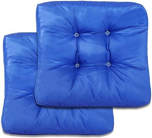 2 Pack Square Patio Seat Back Cushions Floor Cushions Chair Cushion Pad