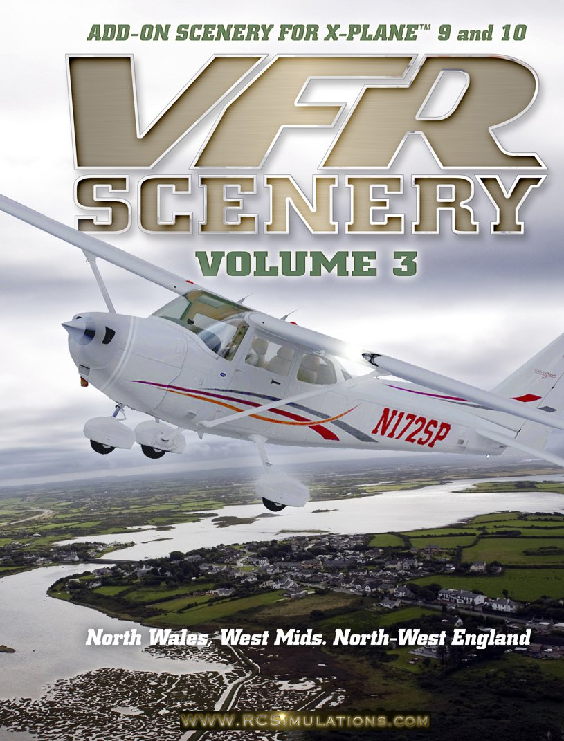 X-Plane VFR Scenery - Volume 3: North Wales, West Midlands
