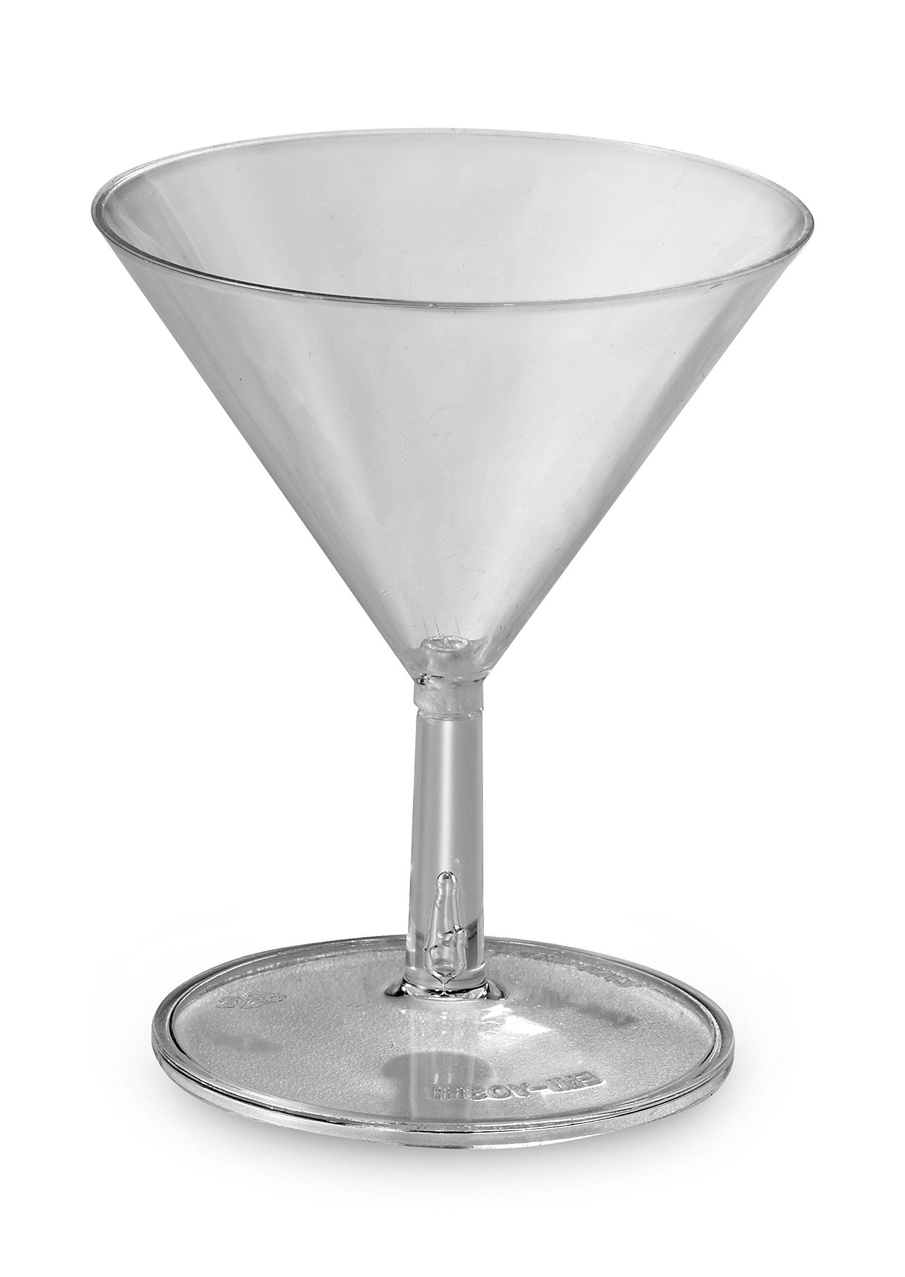 Small Wonders Clear 2 oz Mini Plastic Martini Glasses 120 Cups by EMI Yoshi