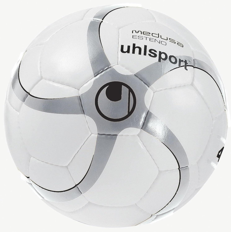 Uhlsport Medusa Nereo - Balón de fútbol, Color Blanco/Plata/Negro ...