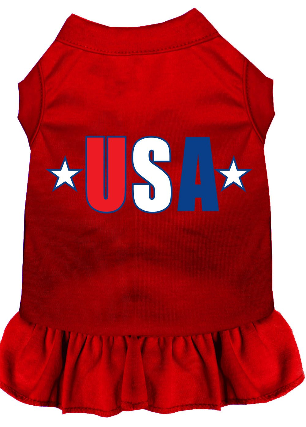 Mirage Pet Products 58-41 4XRD USA Star Screen Print Dress, 4X-Large, Red