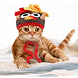 Legendog Cat Costume Pet Turkey Hat Thanksgiving Apparel for Cats Small Dogs