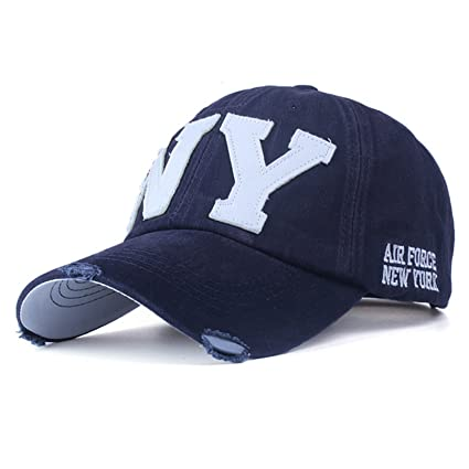 a15ed202374 Amazon.com   2018 unisex fashion cotton baseball cap snapback hat for men  women sun hat bone gorras ny embroidery spring cap (Blue Color)    Everything Else
