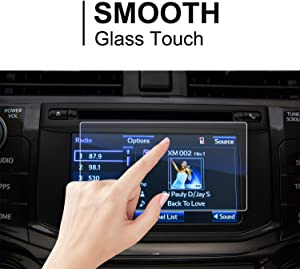 LFOTPP Car Navigation Screen Protector for 2014-2018 4Runner Entune 6.1 Inch / 2013 BRZ, Clear Tempered Glass Infotainment Display in-Dash Center Touch Screen Protector