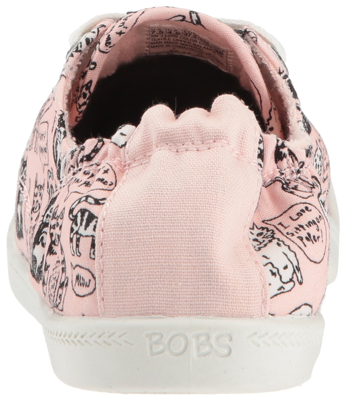Skechers BOBS from Women's Beach Bingo-Chitty Chat Sneaker B077T9CWQJ 9.5 B(M) US Light Pink