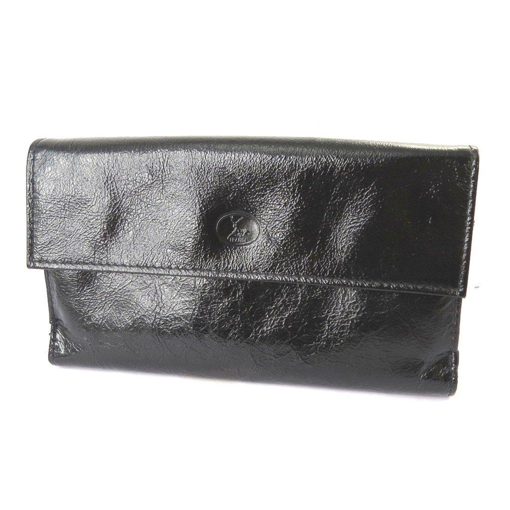 Wallet + checkbook holder leather 'Frandi' black red varnish. by Frandi (Image #2)