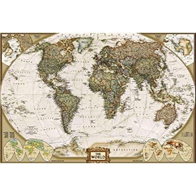 Puzzles for Adults Kids 1000 Piece Jigsaw Puzzle Game Toys Gift DIY for Room Decoration-World Map: Toys & Games